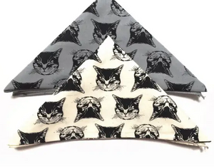 Cat Bandana Black & White by Little Lark