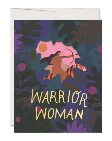 Warrior Woman by Red Cap Cards