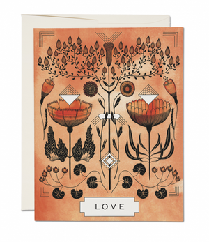 Love Reflected by Red Cap Cards
