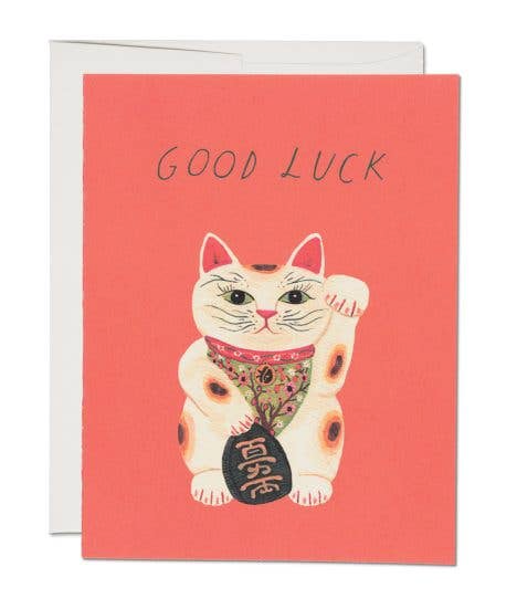 Good Luck Kitty by Red Cap Cards