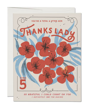 Thanks Lady by Red Cap Cards