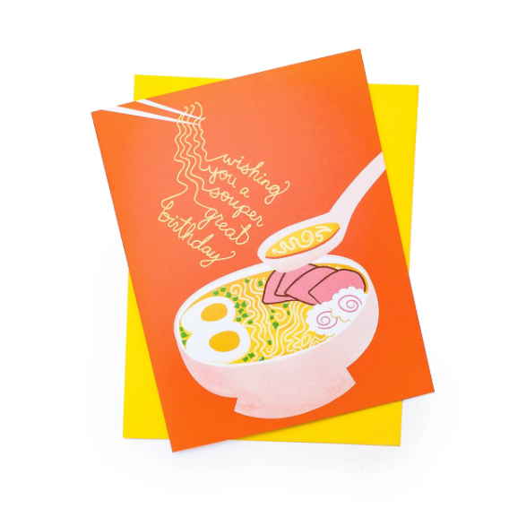 Soup-er Birthday Card by Rhino Parade