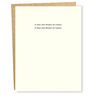 Worst of Times Card by Sapling Press