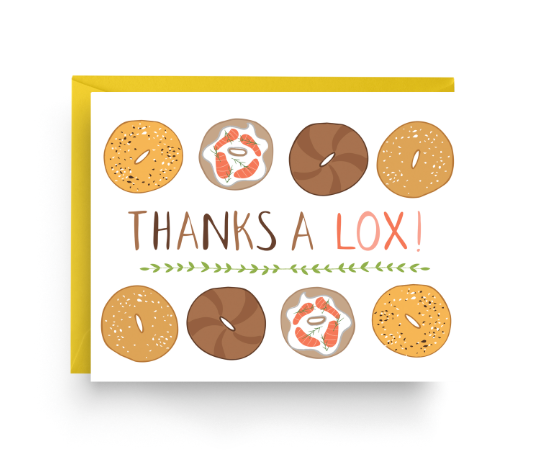 Thanks A Lox Card by Nicole Marie Paperie