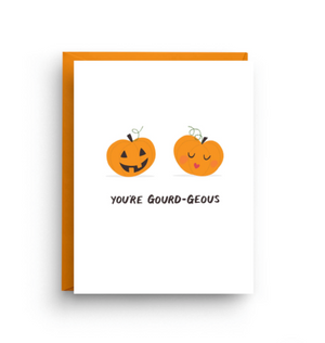 You're Gourd-geous Halloween Card by Nicole Marie Paperie