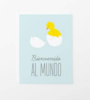 Bienvenido al Mundo, Baby Chick Card by Graphic Anthology