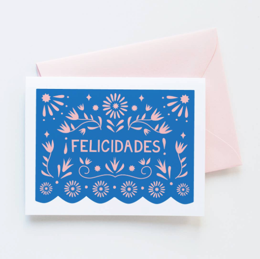 Papel Picado Felicidades Card by Graphic Anthology