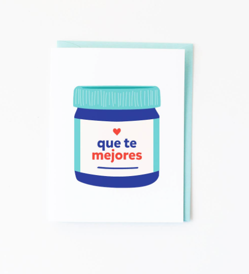 Que te mejores Card by Graphic Anthology