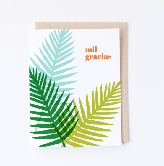 Mil Gracias Card by Graphic Anthology