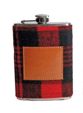 Plaid Flask Red