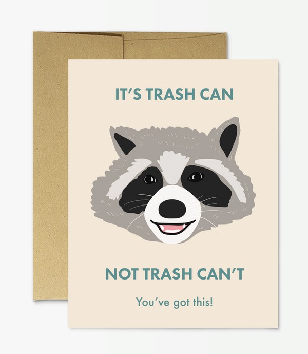 Raccoon Trash Can by Party Mountain Paper