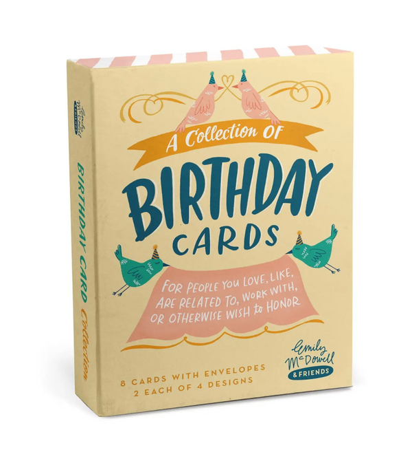 Birthday Cards, Box of 8 Assorted by Emily McDowell & Friends