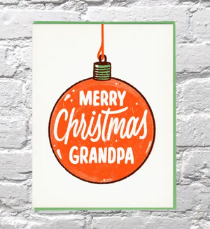 Merry Christmas Grandpa Card by Bench Pressed
