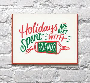 Friends Holiday Card by Bench Pressed
