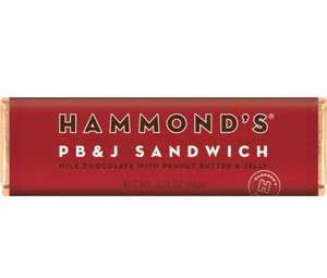 PB & J Sandwich Milk Chocolate Candy Bar by Hammonds Candies