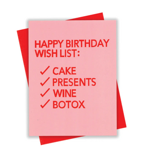 HBD Wish List Card by xou