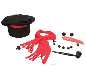 Snowman Kit in a Top Hat Set of 14 Pieces