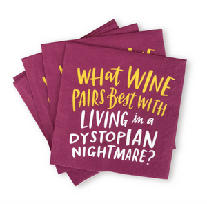 Wine Dystopia Cocktail Napkins, Pack of 20 by Emily McDowell & Friends