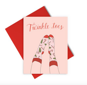 Twinkle Toes Holiday Card by Talking Out of Turn