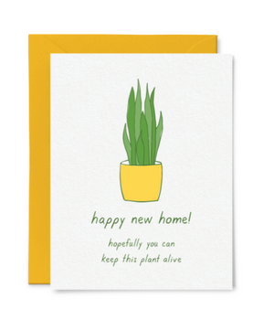 Housewarming Plant Card by Little Goat Paper
