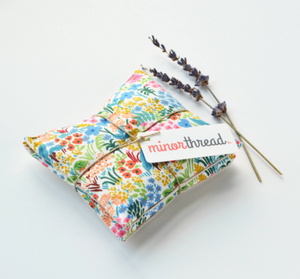 Organic Lavender Sachets in English Garden - Set of 2 by Minor Thread