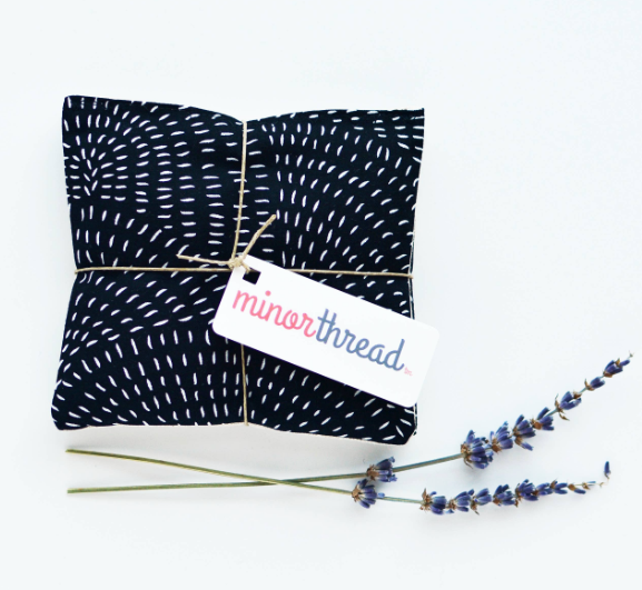 Organic Lavender Sachets in Thicket Black - Set of 2 by Minor Thread