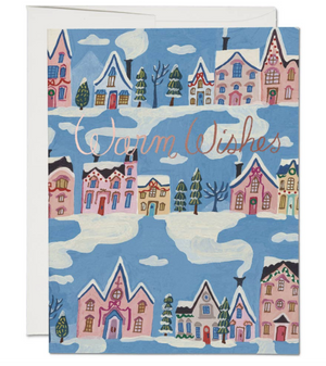 Little Pink Houses Card by Red Cap Cards