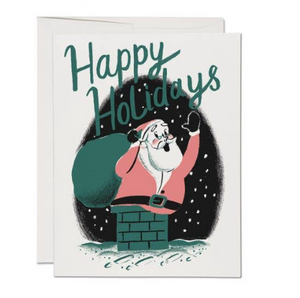 Boxed set of 8 Santa Chimney Card by Red Cap Cards