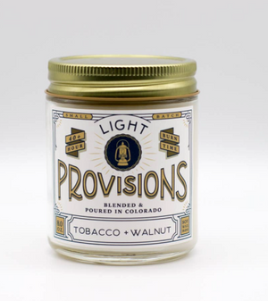 Tobacco + Walnut Candle by Light Provisions