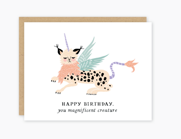 Birthday Creature Card by Party of One