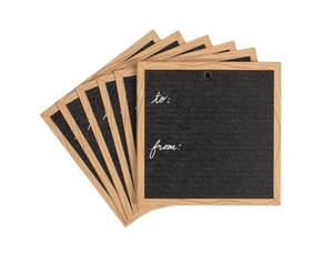 Scratch-On Letter Board Gift Tag (Set of 10) by Letterfolk