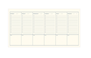 Weekly Schedule Notepad by Ruff House Print Shop