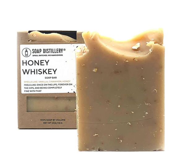 Honey Whiskey Soap Bar by Soap Distillery