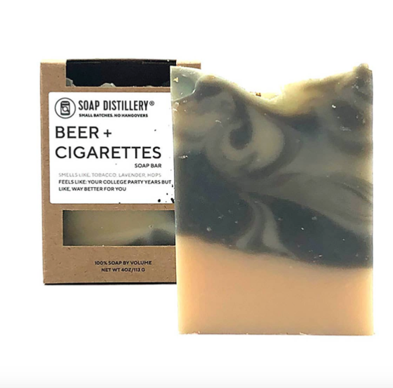 Beer + Cigarettes Soap Bar by Soap Distillery