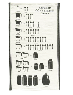 Cotton Tea Towel - Kitchen Conversion Chart