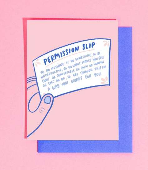 Permission Slip Card by Craft Boner