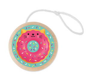Cat Donut Wooden Yo-Yo