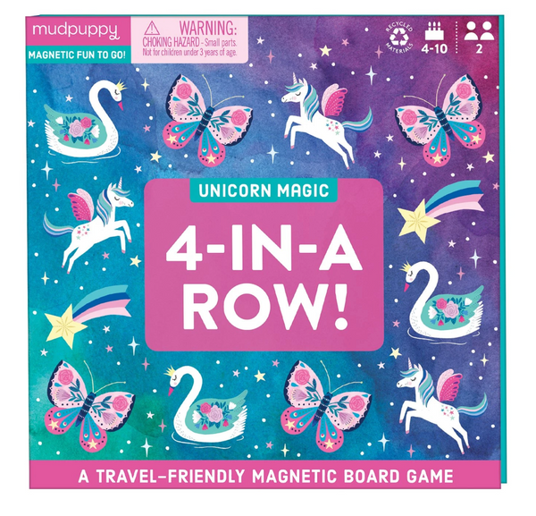 Unicorn Magic 4-in-a-Row Magnetic Board Game