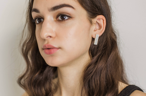 Pinstripe Bar Earrings by Jenna Vanden Brink Ceramics