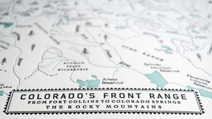 THE FRONT RANGE FROM FORT COLLINS TO COLORADO SPRINGS by Quail Lane Press