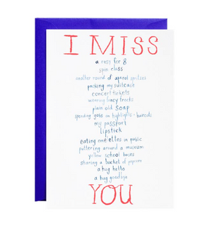 I Miss Everything Card by Mr. Boddington's Studio