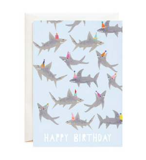Shark Birthday Card by Mr. Boddington's Studio