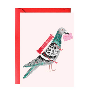 Pigeon with a Message Birthday Card by Mr. Boddington's Studio