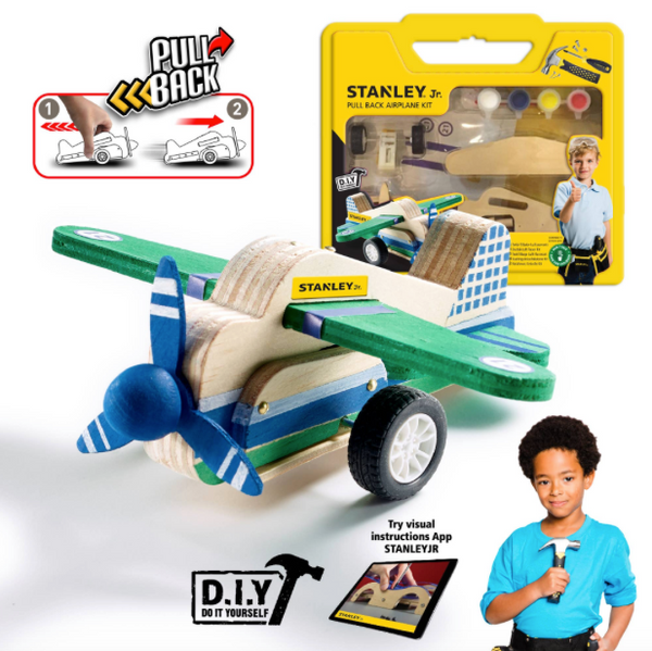 Pull-Back Airplane Kit by STANLEY Jr