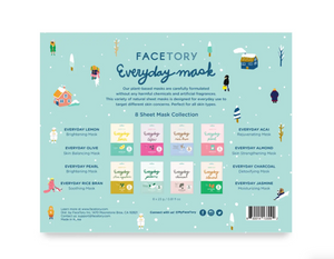 Happy Glowy Days Everyday Collection 8 Mask Gift Set by FaceTory