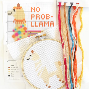 No Prob-llama Cross Stitch Kit by The Stranded Stitch