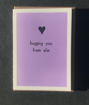 Hugging You From Afar by Etc. Letterpress