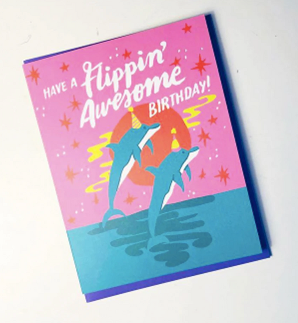 Flippin' Awesome Birthday Card by Ash + Chess