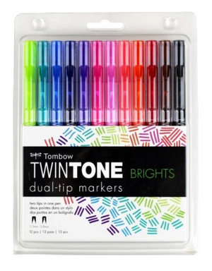 Tombow TwinTone Sets of 12 - Bright