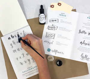 Calligraphy Kit by Wildflower Art Studio